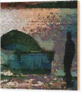 The Man And His Fishing Boat Wood Print
