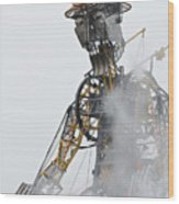 The Man Engine And His Man Wood Print