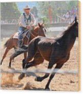 The Man From Snowy River Winner Wood Print