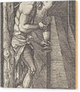 The Man Of Sorrows At The Foot Of The Cross Wood Print
