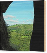 The Manifold Valley From Thor's Cave Wood Print