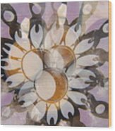 The Many Goddess Mandala Wood Print