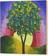 The Maple Tree Wood Print
