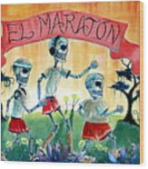 The Marathon Wood Print