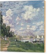 The Marina At Argenteuil Wood Print by Claude Monet