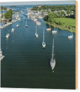 The Marina In Mamaroneck Wood Print