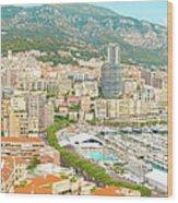 The Marina In Monaco Wood Print