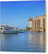 The Marina Sarasota Fl Wood Print