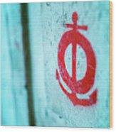 The Mark Of The Lifeguard Wood Print