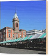 The Market Hall, Market Square, Chesterfield Town, Derbyshire Wood Print