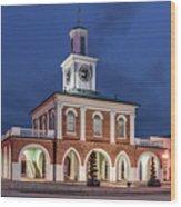 The Market House Wood Print
