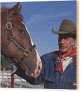The Marlboro Man In Ocala Florida Wood Print