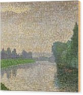 The Marne At Dawn Wood Print