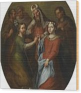 The Marriage Of The Virgin Wood Print