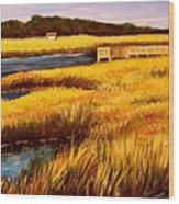 The Marsh At Cherry Grove Myrtle Beach South Carolina Wood Print
