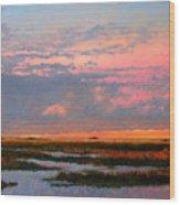 The Marsh  Wood Print by Gary Gowans