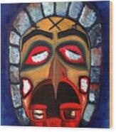 The Mask Of Sorrow Wood Print