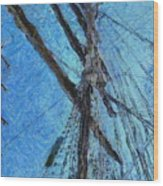 The Mast And The Wind Wood Print
