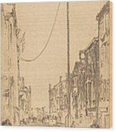The Mast Wood Print