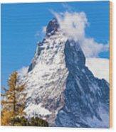 The Matterhorn Mountain Wood Print