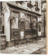 The Mayflower Pub London Vintage Wood Print