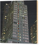 The Mcgraw Hill Building Wood Print
