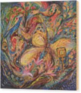 The Mediterranean Blues Wood Print