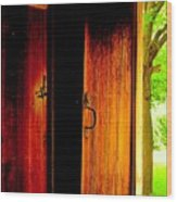 The Meeting House Door Wood Print