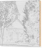 The Meeting House Wood Print