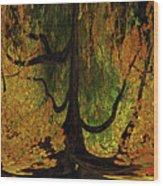 The Melting Tree Wood Print