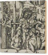The Men's Bath Wood Print