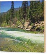 The Merced River In Yosemite Wood Print