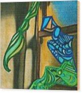 The Mermaid On The Window Sill Wood Print