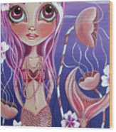 The Mermaid's Garden Wood Print