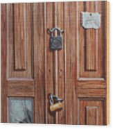 The Message Door Wood Print