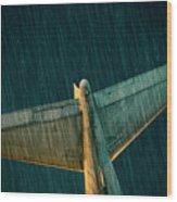 The Metal Whales Tale Wood Print