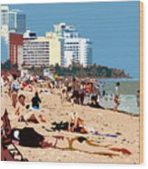 The Miami Beach Wood Print