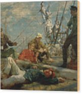 The Midday Rest Sailors Yarning Wood Print