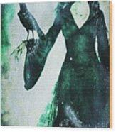 The Midnight Garden Witch Wood Print