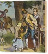 The Midnight Ride Of Paul Revere 1775 Wood Print by Photo Researchers