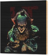 the Mighty Clown Wood Print