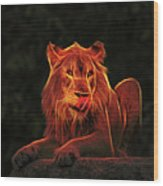 The Mighty Lion Wood Print
