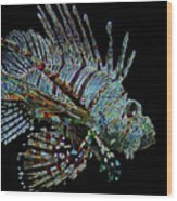 The Mighty Lion Fish Wood Print