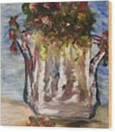 The Milk Can Vase Wood Print