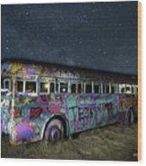 The Milky Way Bus Wood Print