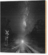 The Milky Way Express Wood Print