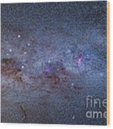 The Milky Way Through Carina And Crux Wood Print