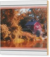 The Mill Greeting Card Wood Print