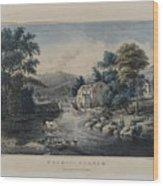 The Mill-stream Wood Print