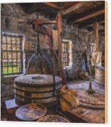 The Milling Room Wood Print by Mark Papke
